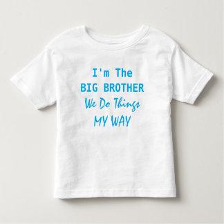 Eu sou o big brother camiseta infantil