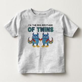 Eu sou o big brother dos gêmeos camiseta infantil