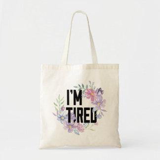Eu sou o bolsa floral cansado
