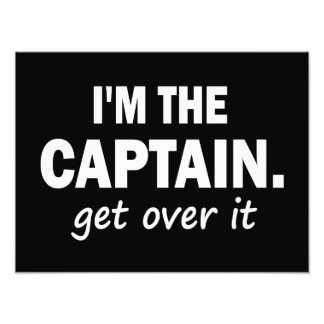 Eu sou o capitão. Obtenha sobre ele - engraçado Fotografias