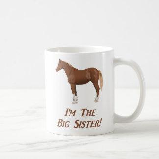 Eu sou o cavalo da irmã mais velha caneca de café