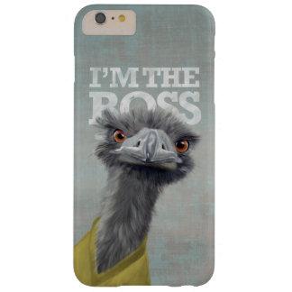 Eu sou o chefe. Avestruz Capa Barely There Para iPhone 6 Plus