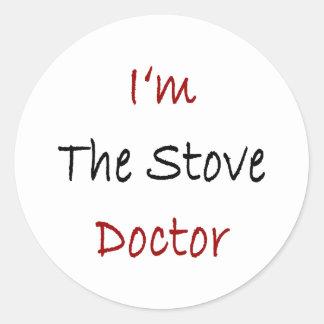 Eu sou o doutor do fogão adesivos em formato redondos