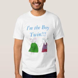 Eu sou o gêmeo do menino!!! t-shirt