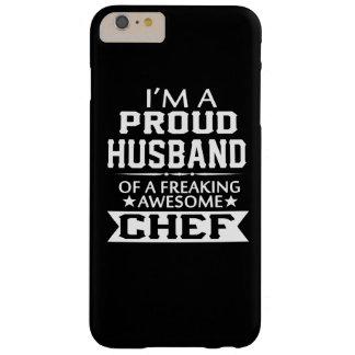 Eu sou o MARIDO de um cozinheiro chefe ORGULHOSO Capa Barely There Para iPhone 6 Plus