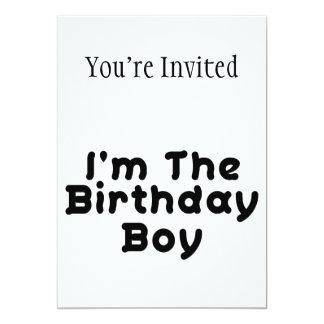 Eu sou o menino do aniversário convite 12.7 x 17.78cm