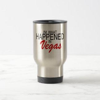 Eu sou o que aconteceu em Vegas Caneca Térmica