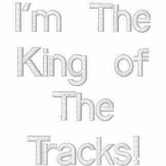 Eu sou o rei das trilhas! agasalho track de lã bordado