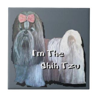 Eu sou o Shih Tzu - azulejo 4,25 x 4,25