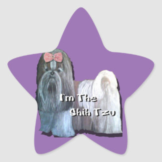 Eu sou o Shih Tzu - etiquetas da estrela - uma
