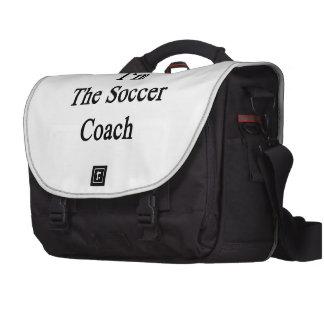 Eu sou o treinador do futebol maletas para notebooks