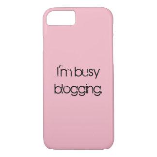 Eu sou ocupado capas de iphone Blogging