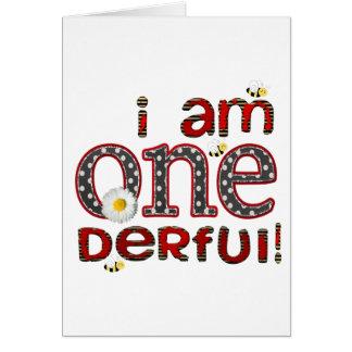 Eu sou ONE-derful Cartoes
