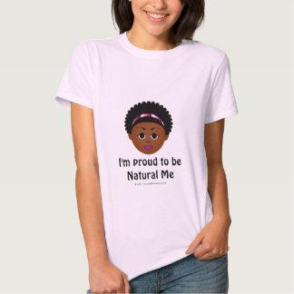Eu sou orgulhoso ser natural mim T básico Camiseta