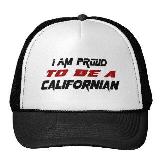 Eu sou orgulhoso ser um californiano boné