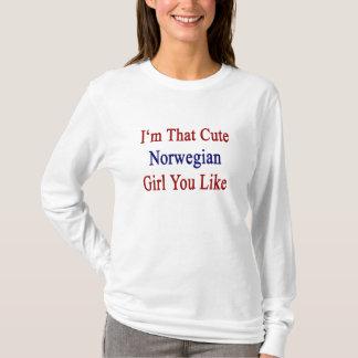 Eu sou que menina que norueguesa bonito você gosta camiseta