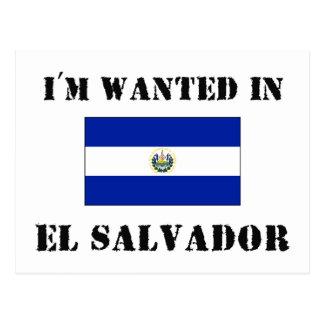 Eu sou querido em El Salvador Cartão Postal
