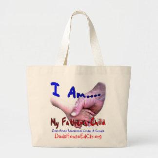 Eu sou saco da criança do meu pai sacola tote jumbo