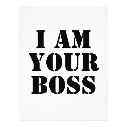 Eu sou seu chefe. Costume Panfleto