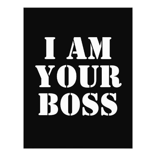 Eu sou seu chefe. Costume Panfletos