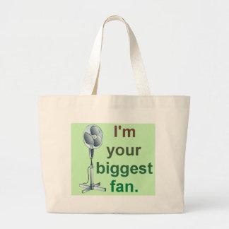 Eu sou seu fã mais grande! sacola tote jumbo