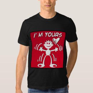 Eu sou seu - figura da vara dos namorados camiseta