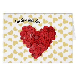 Eu sou Sew em você o cartão dos namorados