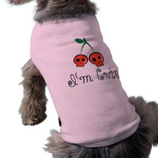 Eu sou t-shirt bonito do cão do crânio da cereja camisa sem mangas para cachorro