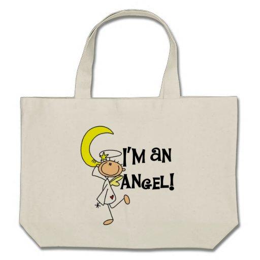 Eu sou t-shirt e presentes de um anjo bolsa