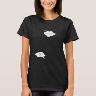 Eu sou t-shirt engraçado com fome da bolha do bebê camiseta