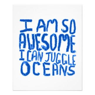 Eu sou tão impressionante eu posso manipular ocean panfleto personalizados