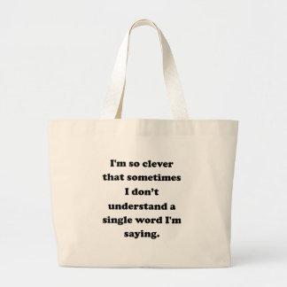Eu sou tão inteligente bolsa para compra