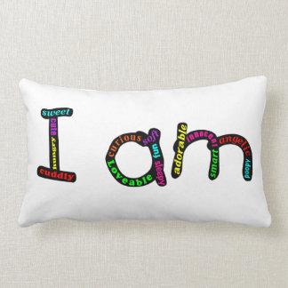 Eu sou travesseiro adorável do bebê almofada lombar