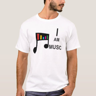 Eu sou tshirt da música camiseta