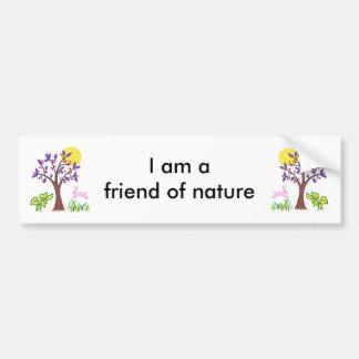 Eu sou um amigo da pintura da natureza & cotação adesivo para carro