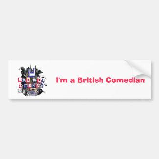 Eu sou um autocolante no vidro traseiro britânico  adesivo para carro