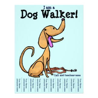 Eu sou um aviador do caminhante do cão panfletos coloridos