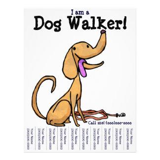 Eu sou um caminhante do cão! Insecto Panfletos Personalizado