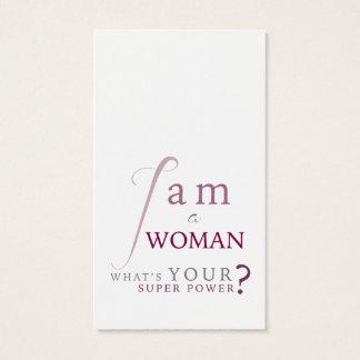 Eu sou um cartão do psicólogo da mulher