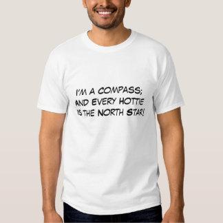 Eu sou um compasso camisetas