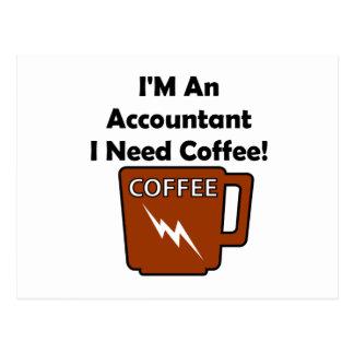 Eu sou um contador, mim preciso o café! cartão postal