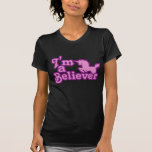 Eu sou um crente nos unicórnios t-shirts