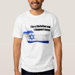 Eu sou um cristão e eu apoio o T dos homens de T-shirt