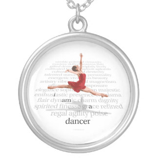Eu sou um dançarino colar banhado a prata