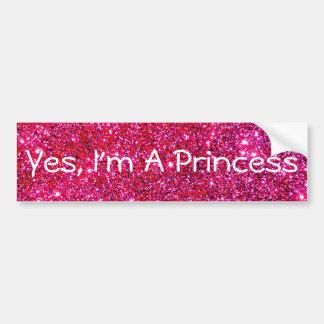 Eu sou um divertimento bonito da princesa adesivo para carro