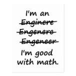 Eu sou um engenheiro que eu sou bom na matemática cartão postal