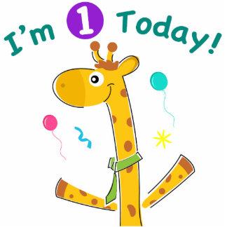 Eu sou um hoje - design do girafa esculturafoto