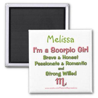Eu sou um ímã personalizado menina do zodíaco da E Ímã Quadrado