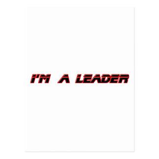 Eu sou um líder os presentes de Zazzle do MUSEU Cartão Postal
