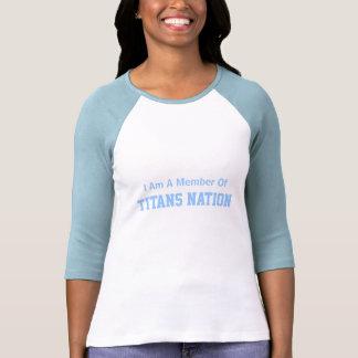 Eu sou um membro de, nação dos titã t-shirt